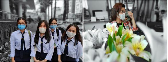 Chùm ảnh: Người Sài Gòn nâng cao ý thức đeo khẩu trang phòng dịch - Ảnh 4.
