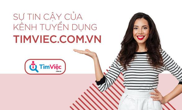 Timviec.com.vn - giải pháp tuyển dụng nhân sự chất lượng - Ảnh 1.