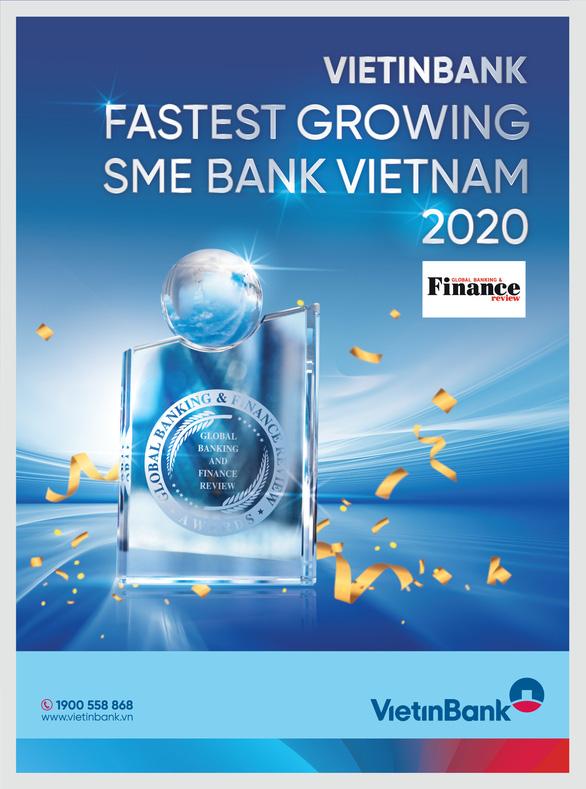 VietinBank nhận giải Ngân hàng SME phát triển nhanh nhất Việt Nam 2020 - Ảnh 1.