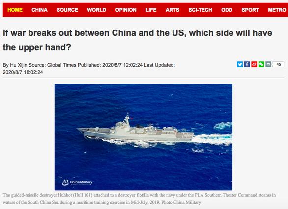 Hoàn Cầu Thời Báo: Nếu Mỹ - Trung chiến tranh, Trung Quốc sẵn sàng bắn phát thứ hai - Ảnh 1.