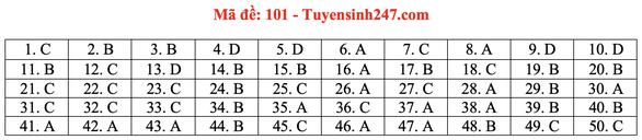 Gợi ý bài giải môn toán thi tốt nghiệp THPT 2020 - đủ 24 mã đề - Ảnh 6.