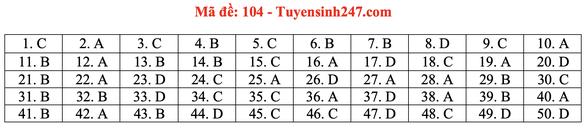 Gợi ý bài giải môn toán thi tốt nghiệp THPT 2020 - đủ 24 mã đề - Ảnh 9.