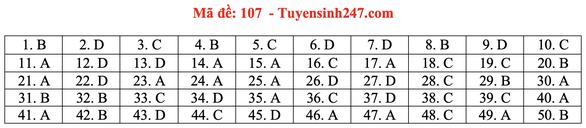 Gợi ý bài giải môn toán thi tốt nghiệp THPT 2020 - Ảnh 11.