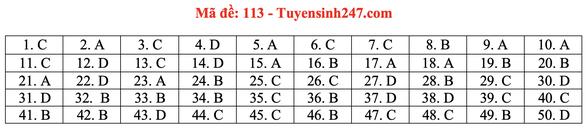 Gợi ý bài giải môn toán thi tốt nghiệp THPT 2020 - Ảnh 16.