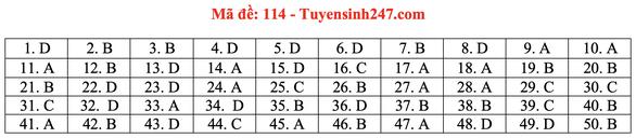 Gợi ý bài giải môn toán thi tốt nghiệp THPT 2020 - Ảnh 17.