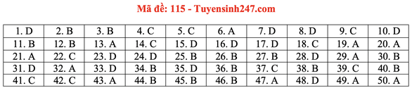 Gợi ý bài giải môn toán thi tốt nghiệp THPT 2020 - Ảnh 18.