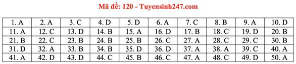 Gợi ý bài giải môn toán thi tốt nghiệp THPT 2020 - đủ 24 mã đề - Ảnh 25.
