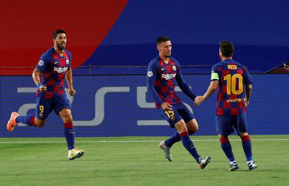 Messi ghi bàn tuyệt đẹp, Barcelona hạ Napoli vào tứ kết Champions League - Ảnh 1.