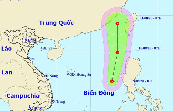 Biển Đông áp thấp nhiệt đới, TP.HCM, Nam Bộ mưa dông - Ảnh 1.