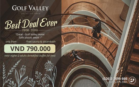 Ưu đãi khủng tháng 9 tại Golf Valley Hotel Đà Lạt - Ảnh 1.