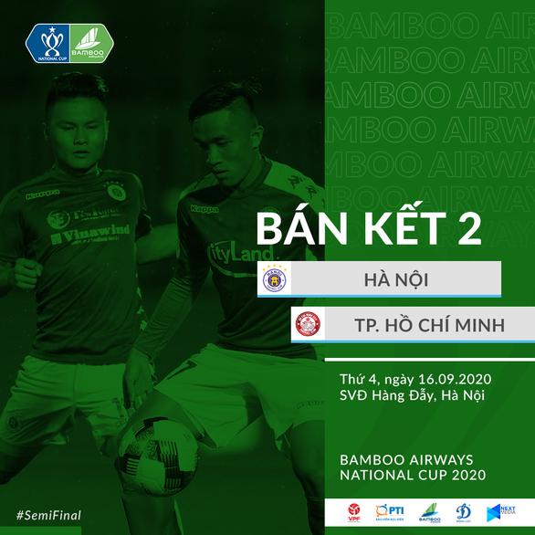 Loại hai đội hạng dưới, CLB TP.HCM và Hà Nội gặp nhau ở bán kết Cúp quốc gia 2020 - Ảnh 1.