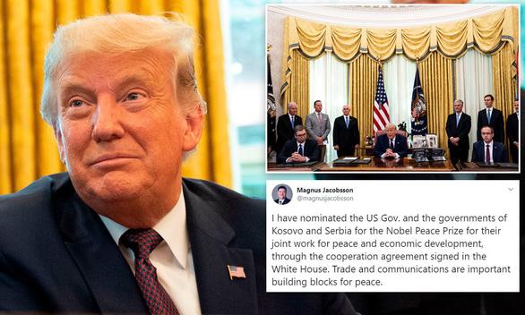 Chính phủ Mỹ được đề cử Nobel hòa bình nhờ kết nối cho Kosovo - Serbia - Ảnh 1.