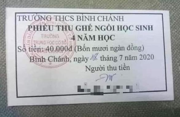 TP.HCM: Yêu cầu dừng thu, trả lại tiền ghế ngồi học sinh cho phụ huynh - Ảnh 1.