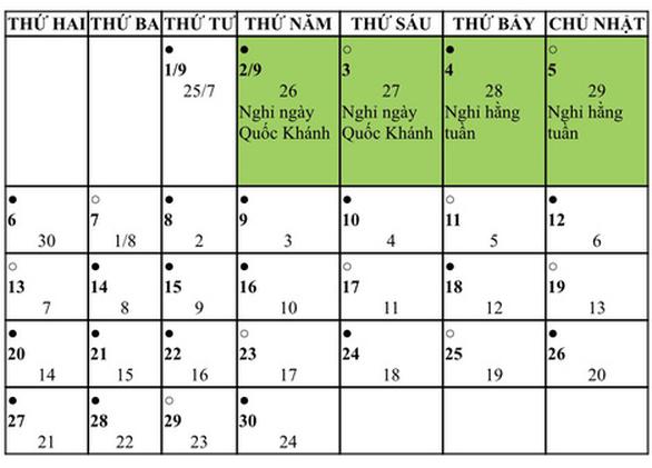 Đề xuất Quốc khánh 2-9-2021 nghỉ 4 ngày liên tiếp - Ảnh 2.