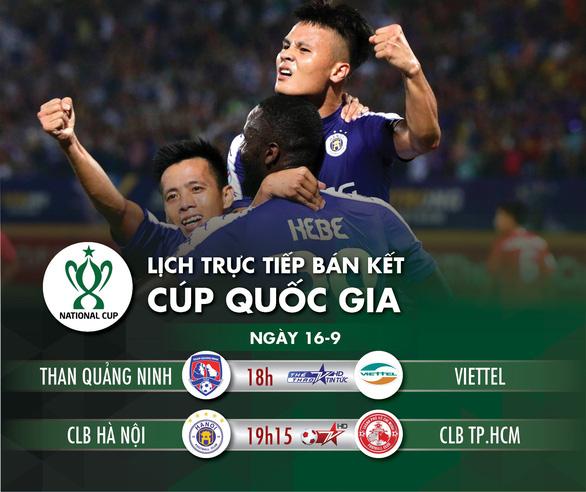 Lịch trực tiếp bán kết Cúp quốc gia 2020: CLB Hà Nội - CLB TP.HCM - Ảnh 1.