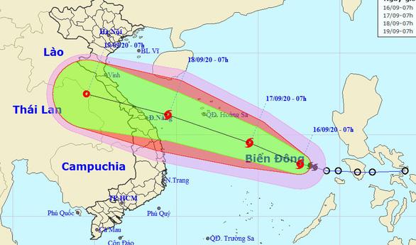 Bão cách Hoàng Sa 750km, biển Bình Thuận – Cà Mau mưa dông