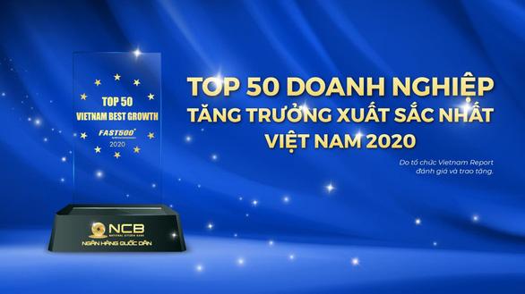 NCB lọt Top 50 Doanh nghiệp tăng trưởng xuất sắc nhất Việt Nam năm 2020 - Ảnh 1.