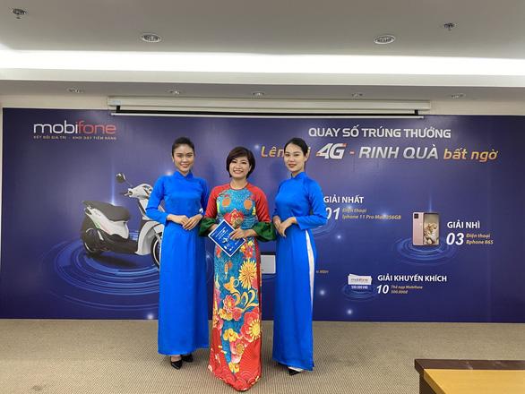 Mobifone quay số trúng thưởng chương trình Lên đời 4G, rinh quà bất ngờ - Ảnh 1.