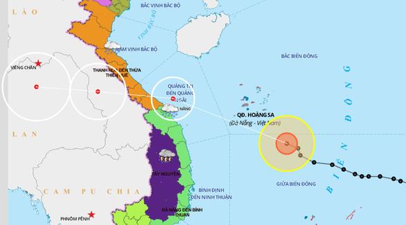 Bão số 5 dự báo đổ bộ Quảng Bình - Quảng Nam vào trưa - chiều mai 18-9 - Ảnh 2.