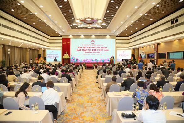 Đại hội Thi đua yêu nước Mặt trận Tổ quốc Việt Nam lần đầu làm trực tuyến - Ảnh 1.