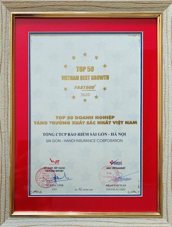 BSH lọt Top 50 doanh nghiệp tăng trưởng xuất sắc nhất Việt Nam - Ảnh 1.