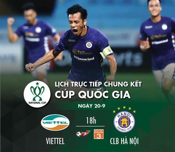 Lịch trực tiếp chung kết Cúp quốc gia 2020: Viettel - CLB Hà Nội - Ảnh 1.