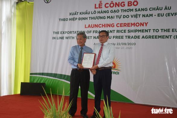 Xuất khẩu lô gạo thơm đầu tiên sang Châu Âu theo Hiệp định EVFTA - Ảnh 1.