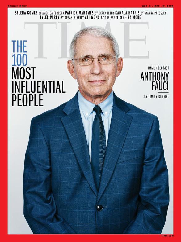 Time công bố 100 người ảnh hưởng nhất năm 2020, bác sĩ Anthony Fauci lên trang bìa - Ảnh 1.