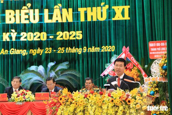 Ông Võ Văn Thưởng dự Đại hội đại biểu Đảng bộ tỉnh An Giang - Ảnh 3.