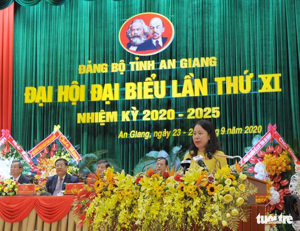 Bà Võ Thị Ánh Xuân tái đắc cử Bí thư Tỉnh ủy An Giang - Ảnh 1.