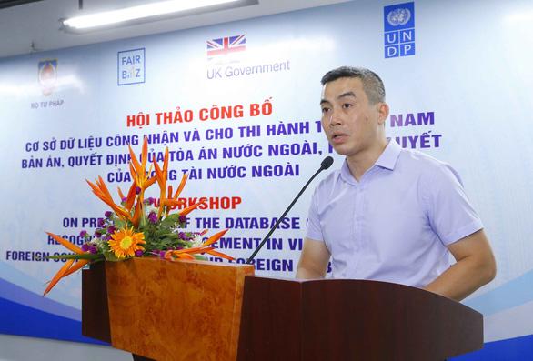 Công bố cơ sở dữ liệu thi hành các bản án của tòa nước ngoài tại Việt Nam - Ảnh 1.