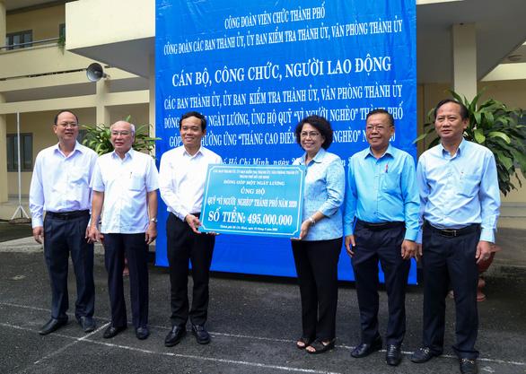 Cán bộ, công chức TP.HCM góp một ngày lương cho Quỹ Vì người nghèo - Ảnh 1.
