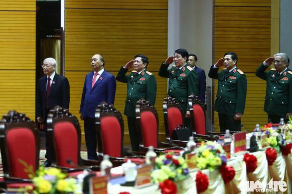 Tổng bí thư, Chủ tịch nước Nguyễn Phú Trọng dự Đại hội đại biểu Đảng bộ Quân đội - Ảnh 3.