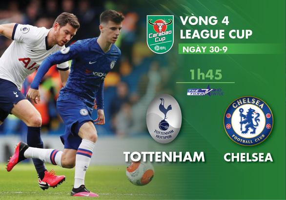 Lịch trực tiếp vòng 4 Carabao: Tottenham gặp Chelsea, Mourinho đối đầu Lampard - Ảnh 1.