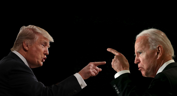 Trump và Biden trước cuộc so găng trực tiếp đầu tiên - Ảnh 1.