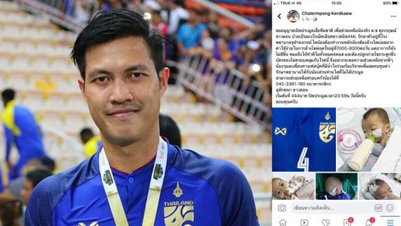 Tuyển thủ Thái Lan bị dân mạng khủng bố vì đăng tin giả trên Facebook kêu gọi quyên góp - Ảnh 1.
