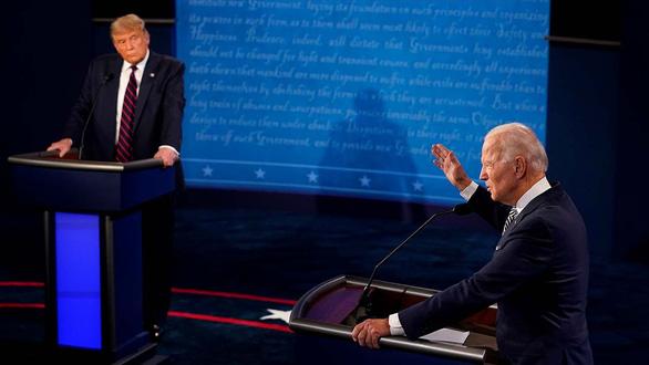 65 -73 triệu người Mỹ xem cuộc so găng đầu tiên giữa Trump-Biden: tăng vọt so với 2016 - Ảnh 1.