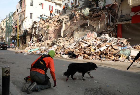 1 tháng sau vụ nổ, Lebanon phát hiện dấu hiệu sự sống dưới tòa nhà đổ nát - Ảnh 1.