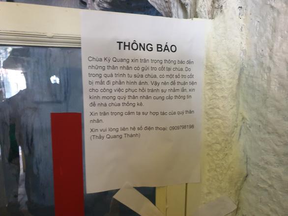Tro cốt mất danh tính tại chùa Kỳ Quang 2 có xét nghiệm ADN được nữa không? - Ảnh 3.