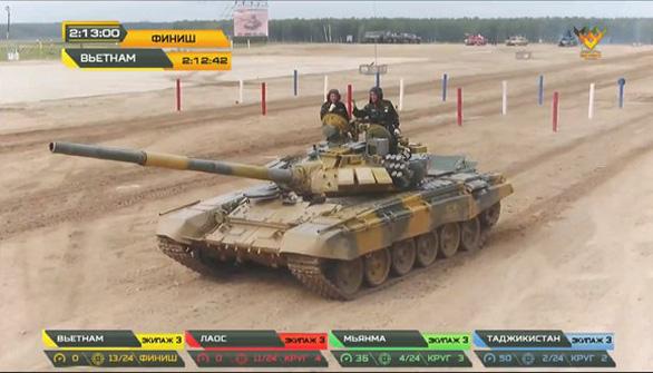 Lần đầu tiên Việt Nam vô địch bảng 2 xe tăng hành tiến của Army Games 2020 - Ảnh 1.