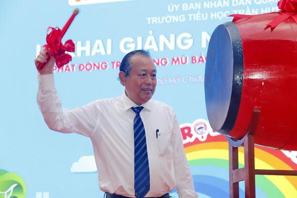 Phó thủ tướng Trương Hòa Bình dự lễ khai giảng năm học mới sáng 6-9 - Ảnh 2.
