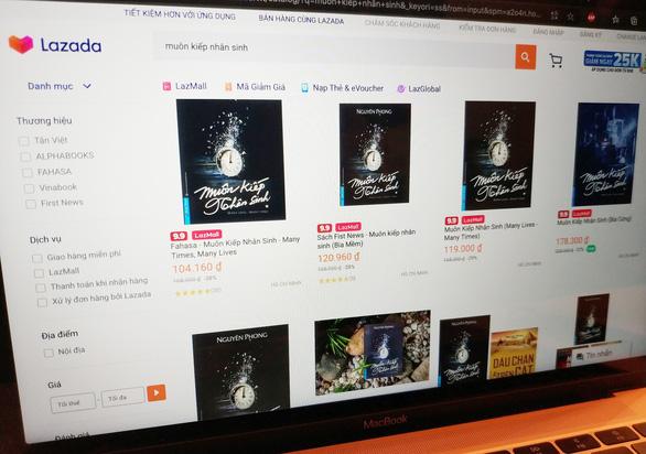 Lazada bị First News - Trí Việt kiện vì bán sách giả Muôn kiếp nhân sinh, Đắc nhân tâm... - Ảnh 2.