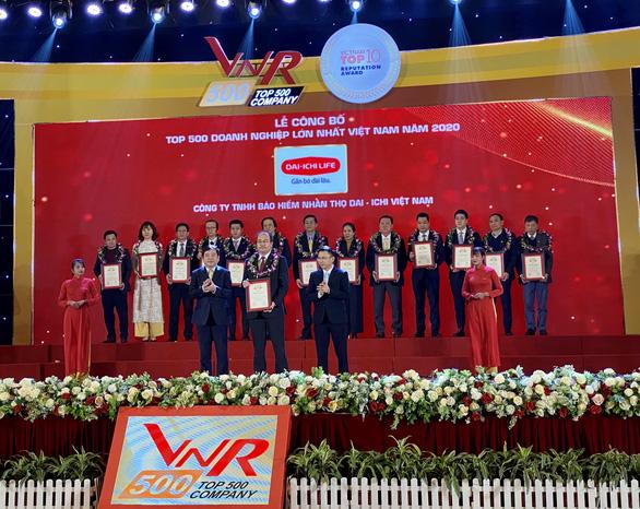 Dai-ichi Life Việt Nam đạt hạng 100/500 doanh nghiệp lớn nhất Việt Nam năm 2020 - Ảnh 1.