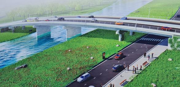 Xây Cầu Đò bắc ngang sông Thị Tính, tỉnh Bình Dương trị giá 213 tỉ đồng - Ảnh 2.
