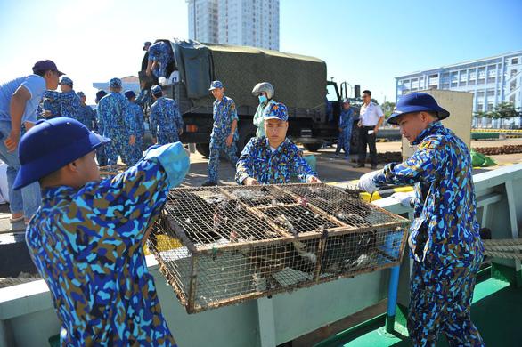Vùng 2 Hải quân chuẩn bị quà đi chúc tết nhà giàn DK1 và Côn Đảo - Ảnh 1.