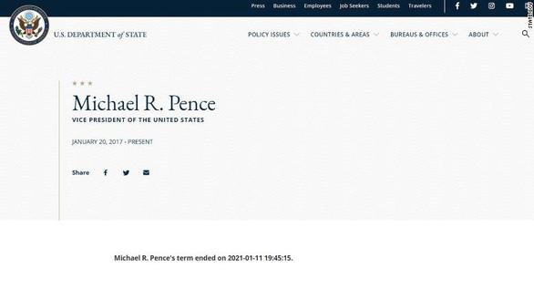 Trang web Bộ Ngoại giao Mỹ đăng nhầm tin ông Trump đã hết nhiệm kỳ - Ảnh 2.