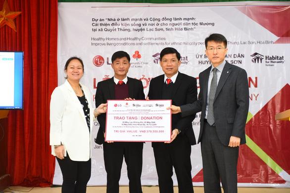 LG hỗ trợ xây mới và sửa chữa nhà ở cho các gia đình dân tộc Mường - Ảnh 1.