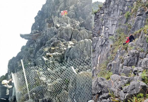 Tạm cấm check in sau vụ khách du lịch rơi từ mỏm đá tử thần đèo Mã Pí Lèng - Ảnh 2.