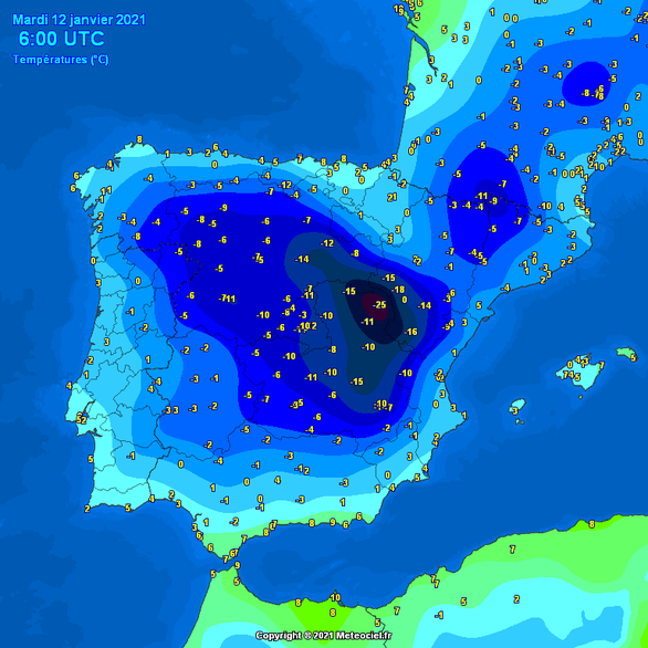 غیرمعمول: دمای هوا در مرکز اسپانیا تا 25- درجه سانتیگراد و به همان اندازه سرد بودن سیبری کاهش می یابد - عکس 2.