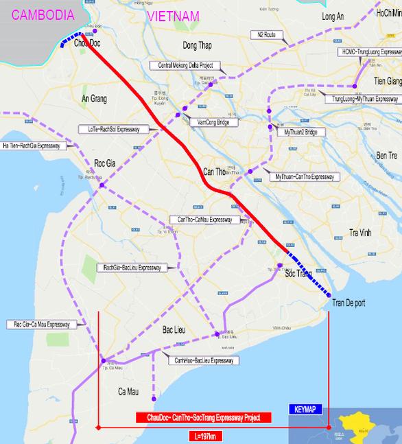 Hơn 23.000 tỉ đồng xây dựng tuyến cao tốc Châu Đốc - Cần Thơ - Sóc Trăng giai đoạn 1 - Ảnh 1.
